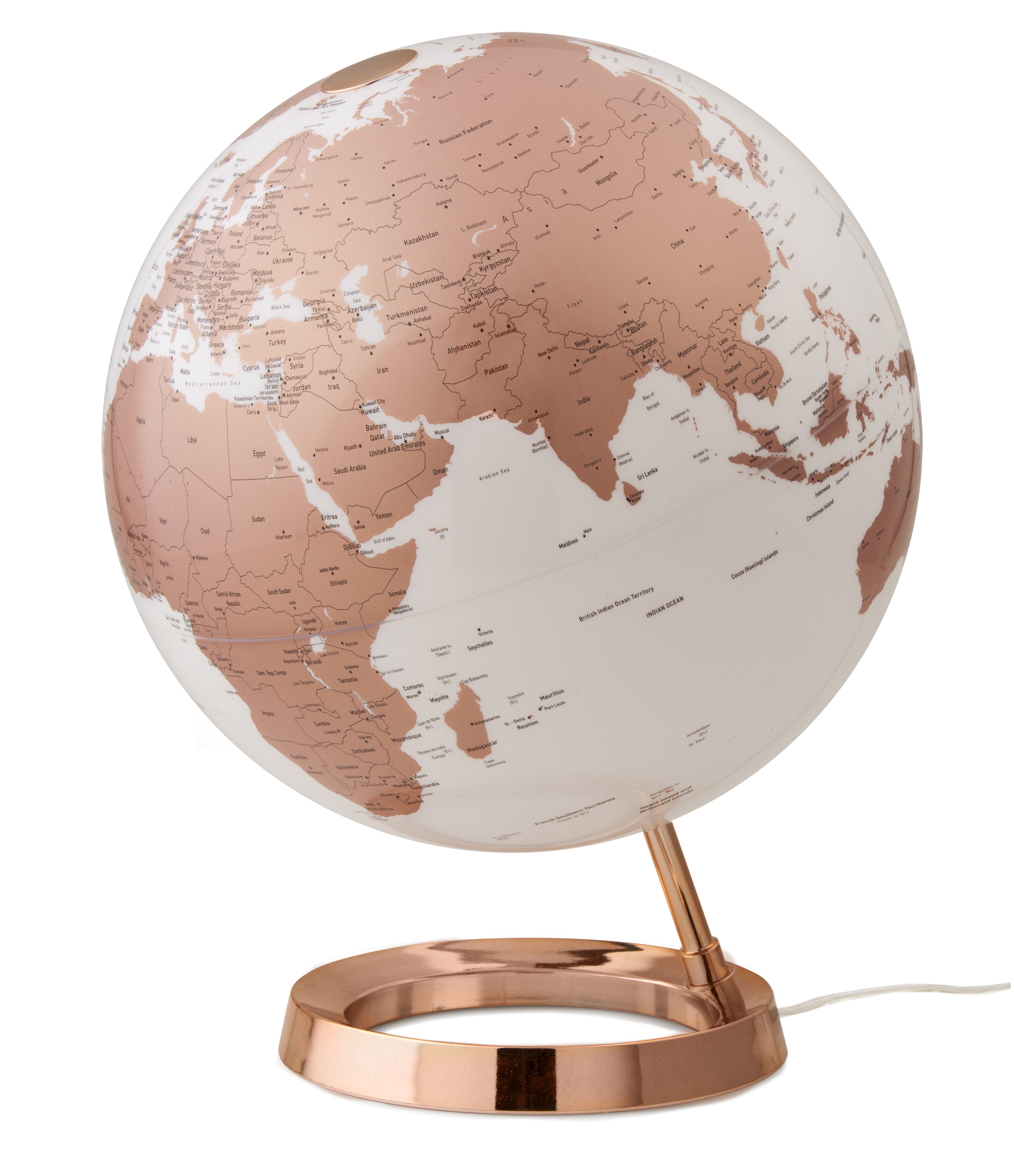 design leuchtglobus atmosphere light colour copper 30cm. Black Bedroom Furniture Sets. Home Design Ideas