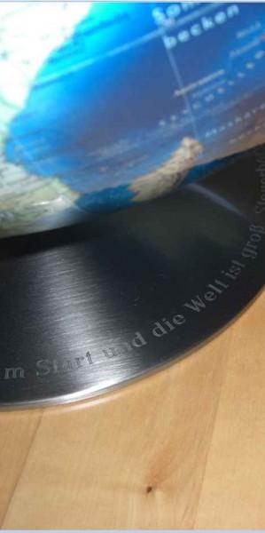 Globus-Gravur