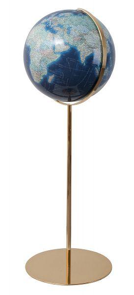 Standglobus handkaschiert Columbus Azzurro 244076 - Ø 40 cm Leuchtglobus Luxus Globus Büro Globe Wor