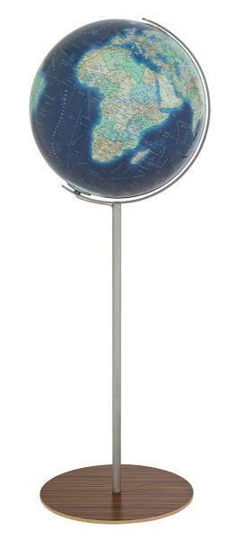 Standglobus handkaschiert Columbus Azzurro 244056 - Ø 40 cm Design Leuchtglobus Globus Büro Globe Wo