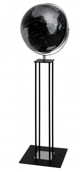 Globus Standglobus WORLDTROPHY Relief-Globus matt black night Designglobus 42,5 cm Durchmesser Emfor