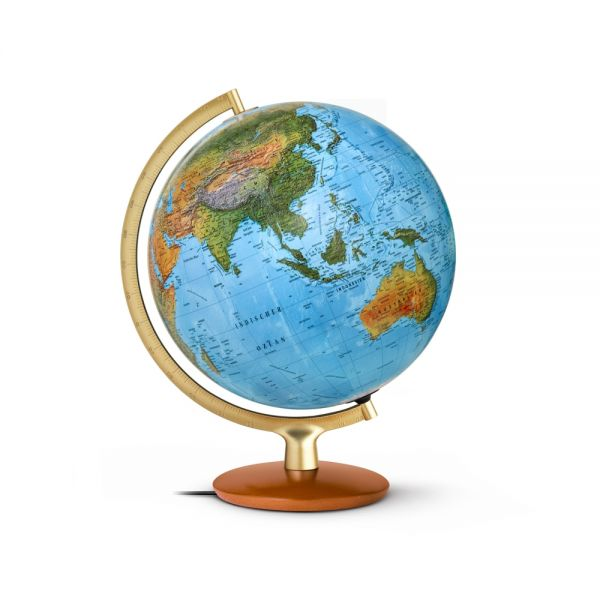 Handkaschierter Doppelbild-Leuchtglobus DFNI 3015 Globus 30cm Tischglobus Globe Erth World Büro