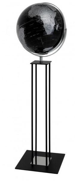 Globus Standglobus WORLDTROPHY Relief-Globus black night Designglobus 42,5 cm Durchmesser Emform SE-