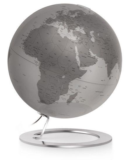 25cm Design-Globus Atmosphere iGlobe silver Edition Globus Globe Modern Silber