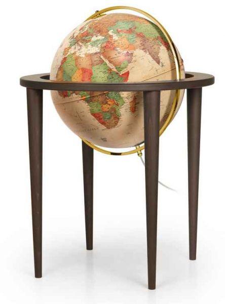 Räth Standglobus 50cm Antik, Schwenkbar, Echtholz, Leuchtglobus Globus Globe Stand-Leuchtglobus PAL5