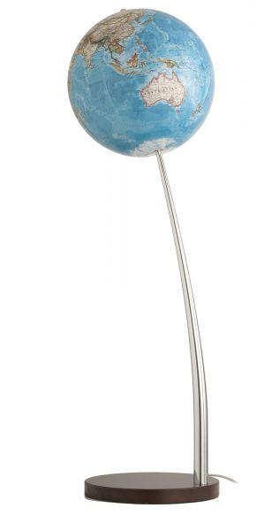 National Geographic Vertigo Globus Classic Standglobus Leuchtglobus 37cm Chrome Globe World Design