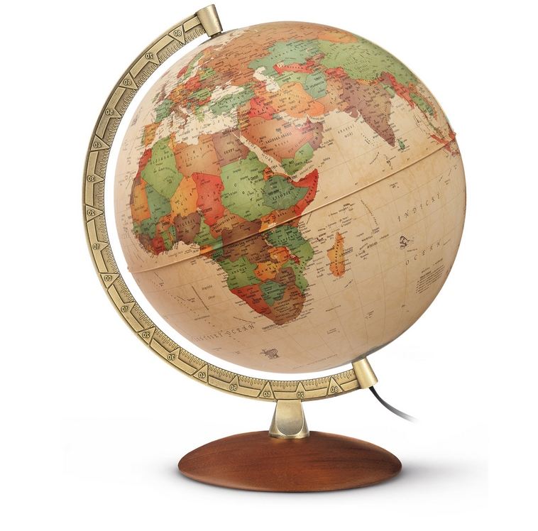 r th leuchtglobus 30cm antikglobus globus kirschbaumfarben besondere skalierung pal3010 globe. Black Bedroom Furniture Sets. Home Design Ideas