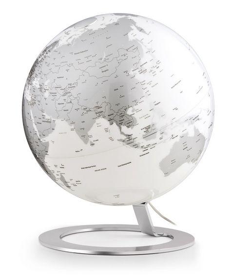 25cm Design-Leuchtglobus Atmosphere iGlobe Light Chrome Leuchtglobus Globus Globe Modern
