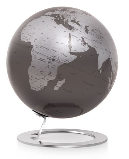 25cm Design-Globus Atmosphere iGlobe Slate Edition Globus Globe Modern silbergrau