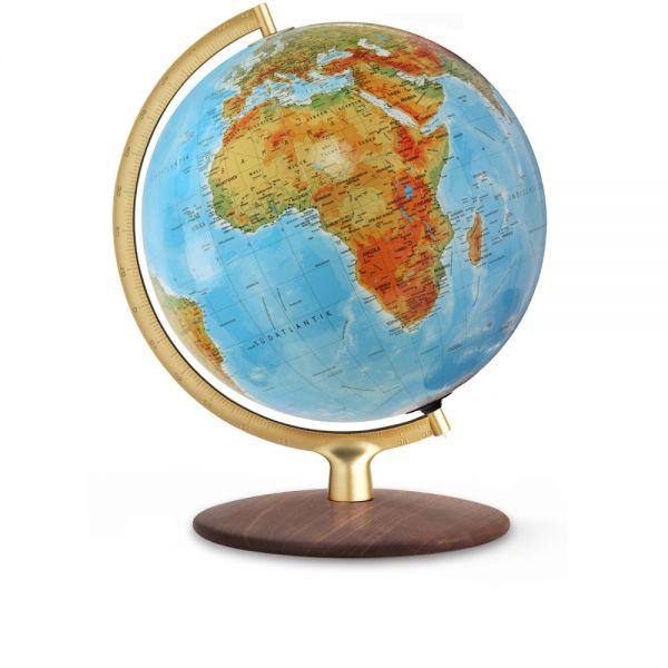 Doppelbild-Leuchtglobus DFG 3001 handkaschiert Kristallglaskugel Globus 30cm Tischglobus Globe