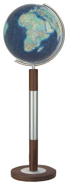 Standglobus handkaschiert Columbus Azzurro 244088 - Ø 40 cm Leuchtglobus Design Globus Büro Globe Wo