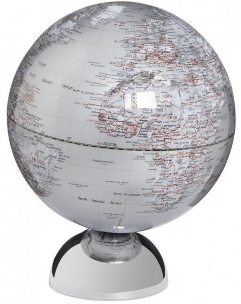 Emform Andromeda politisch silver Magnet Design Globus 25cm silber englisch SE-0827