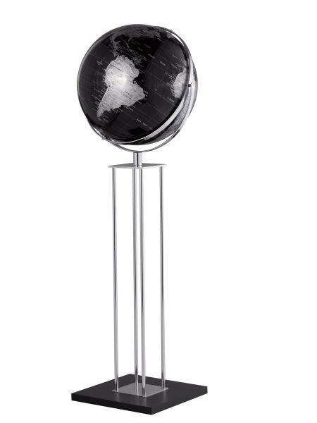 Globus Standglobus WORLDTROPHY Relief-Globus black Designglobus 42,5 cm Durchmesser Emform SE-0636