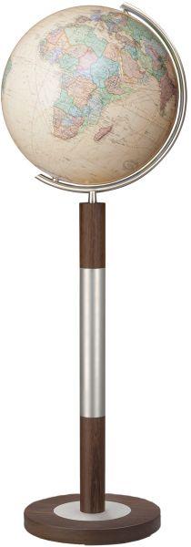 Standglobus Royal antik Großglobus beige Glasglobus Glaskugel 224088
