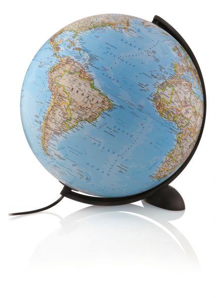 Leuchtglobus NG 30cm Globus National Geographic Ellipse Kartenbild politisch modern Globe