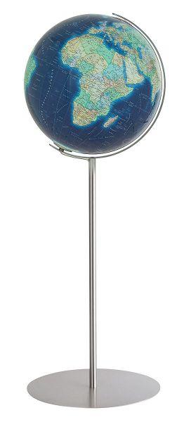 Standglobus 244086 Columbus Azzurro - Durchmesser 40 cm Leuchtglobus Design Globus Doppelbildkartogr