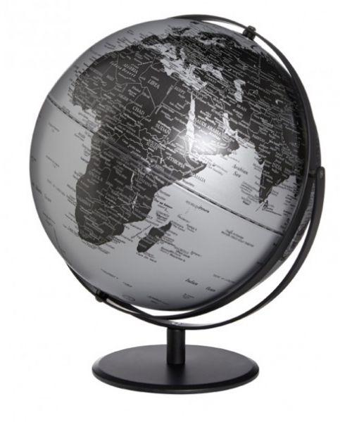 Globus JURI Saturn Matt Black silber Designglobus 30cm Durchmesser Emform SE-0829 Globe Earth World