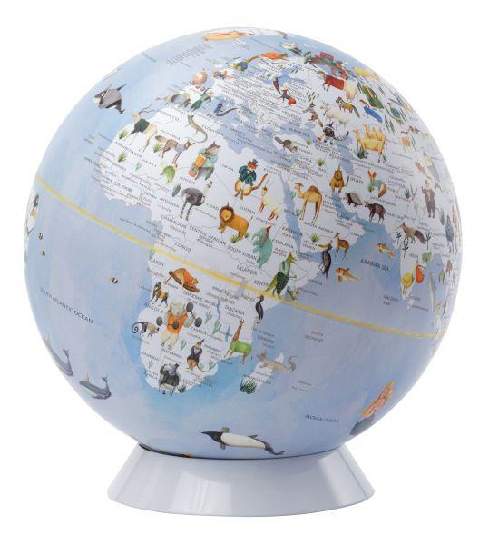 Entdecker Jungs Kinderzimmer Kinderglobus Welt der Tiere Globen für Mädchen Tierglobus blau Globus 2021