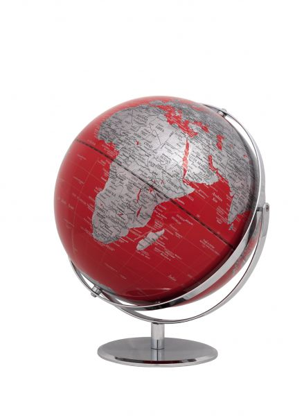 Globus JURI red Designglobus 30cm Durchmesser Emform SE-0766 rot Globe World Earth