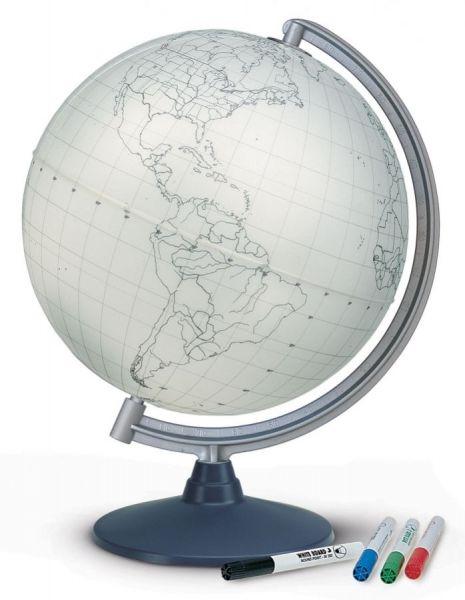 STUMM30 Lehrmittel Stummer Globus Kreideglobus beschreibbar 30 cm Durchmesser mit Zubehör