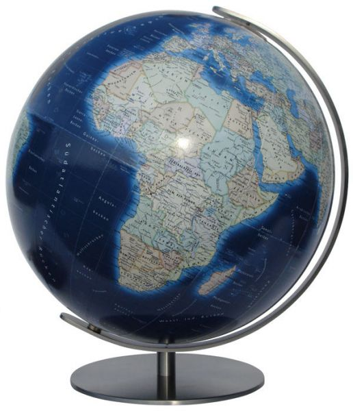 Tischglobus handkaschiert Columbus Azzurro K244081 - Ø 40 cm Leuchtglobus Globus Büro Globe World Ea