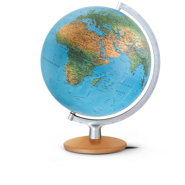 DPI3017 Buchefuß Leuchtglobus Globus beleuchtet Doppelbild Globus kaufen Corona