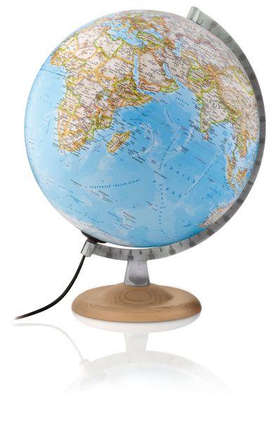 30cm National Geographic Globus Silver Classic politisch/physisch Leuchtglobus Globe