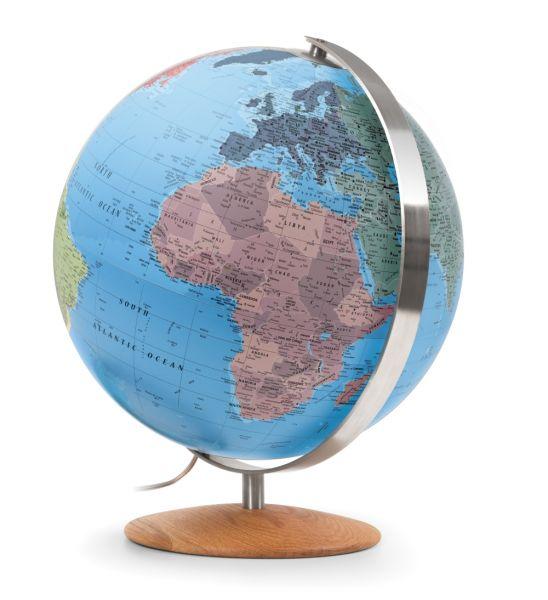 Handkaschierter Leuchtglobus CTN 3702 Globus 37cm Tischglobus Globe Erth World Büro
