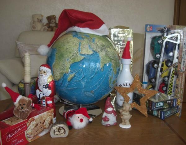 Weihnachtsgeschenk-Globus