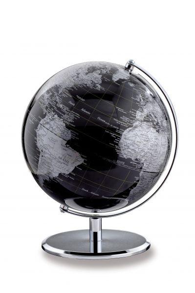 Globus SILVERPLANET Dark chrome Planet Designglobus 24cm Durchmesser Emform SE-0366