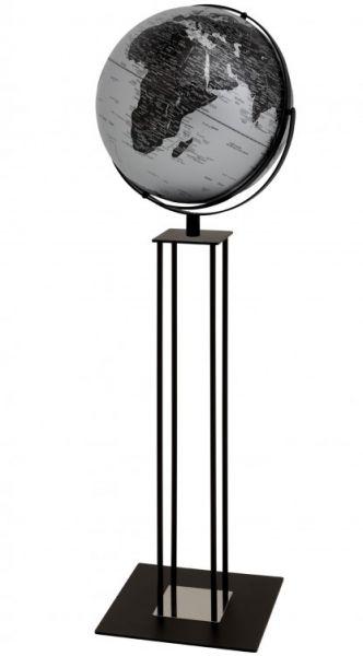Globus Standglobus WORLDTROPHY Relief-Globus matt silver night Designglobus 42,5 cm Durchmesser Emfo