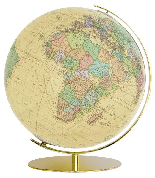 223471 royal beiger antik globus goldfuß Leuchtglobus